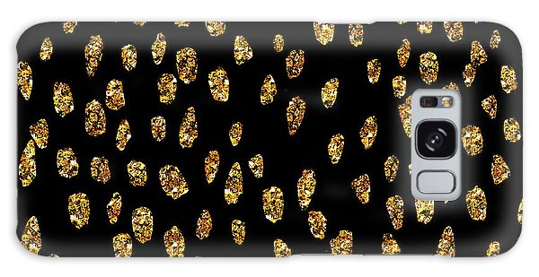 Golden Dots Galaxy Case