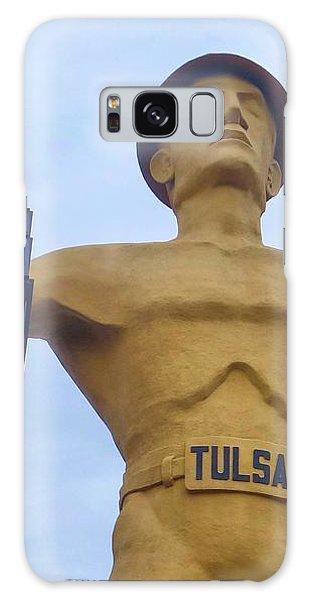 Golden Driller 76 Feet Tall Galaxy Case by Janette Boyd