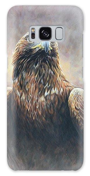 Golden Eagle Portrait Galaxy Case