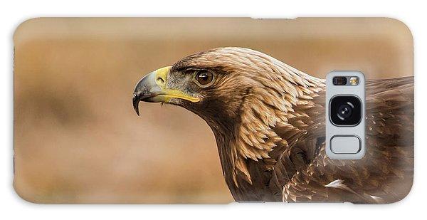 Golden Eagle's Portrait Galaxy Case by Torbjorn Swenelius