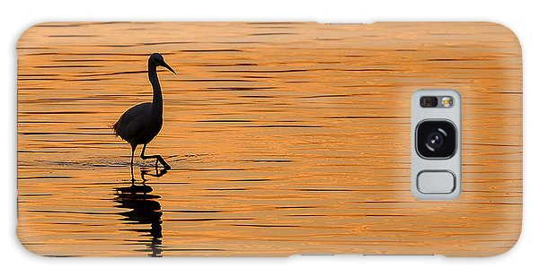 Egret Galaxy Case - Golden Egret by Paul Neville