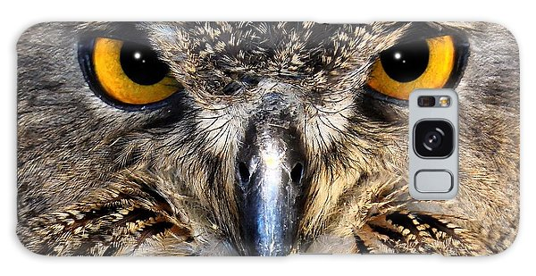 Golden Eyes - Great Horned Owl Galaxy Case