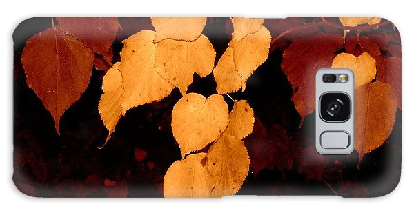 Golden Fall Leaves Galaxy Case