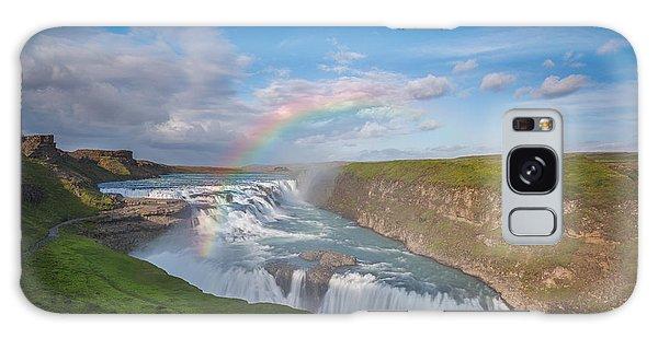 Golden Falls, Gullfoss Iceland Galaxy Case