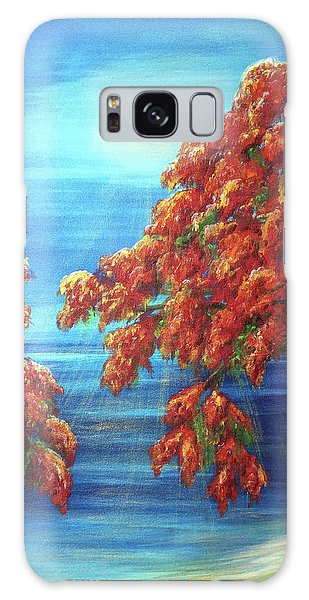 Golden Flame Tree Galaxy Case
