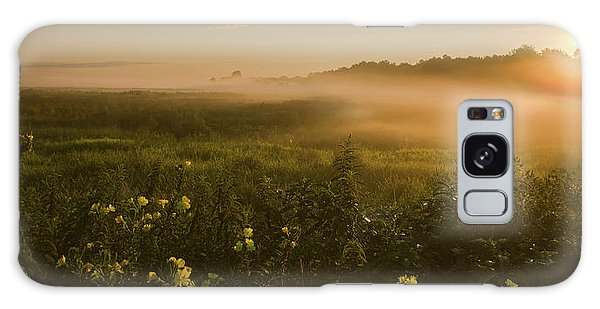 Golden Fog Sunrise At The Refuge Galaxy Case