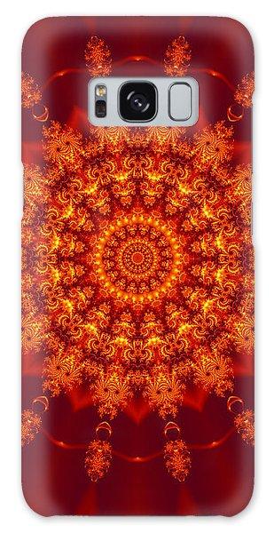 Golden Fractal Mandala Daisy Galaxy Case