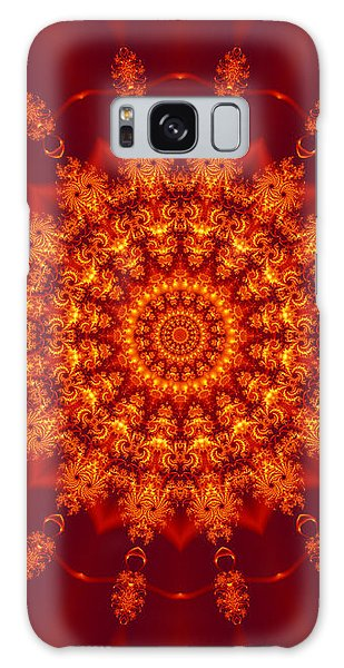 Golden Fractal Mandala Daisy Galaxy Case