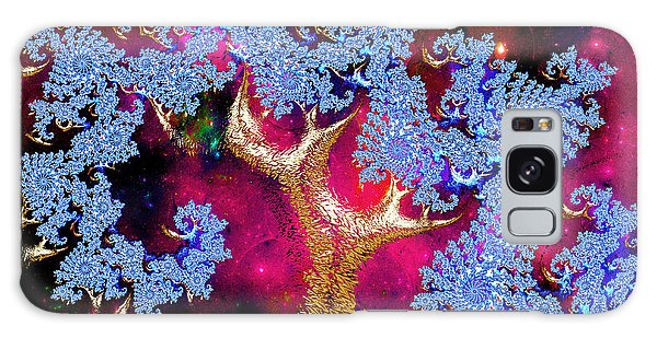 Golden Fractal Tree Galaxy Case