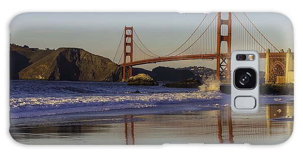 Cultural Center Galaxy Case - Golden Gate And Waves by Garry Gay