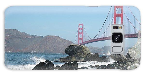 Golden Gate Beach Galaxy Case