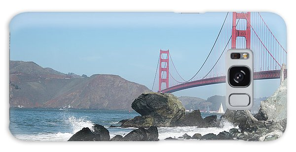 Golden Gate Beach Galaxy Case