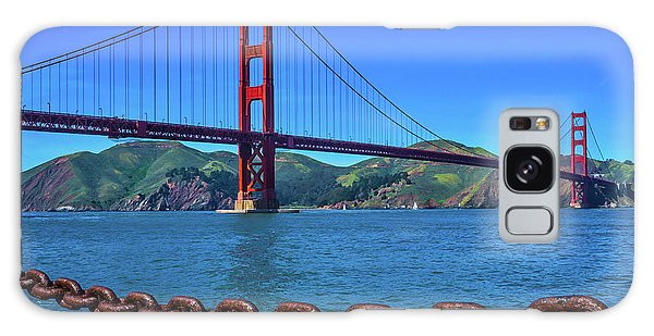 Rusty Chain Galaxy Case - Golden Gate Bridge And Chain by Garry Gay