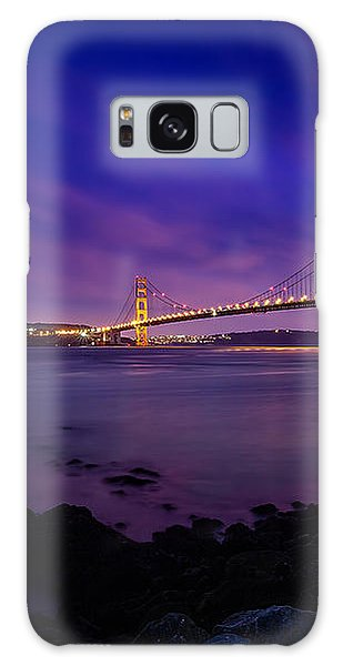 Golden Gate Bridge At Night Galaxy Case