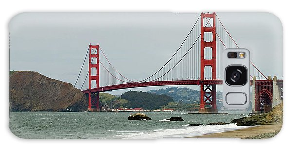 Golden Gate Bridge From Baker Beach Galaxy Case