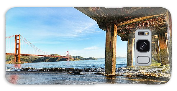 Golden Gate Bridge From Under Fort Point Pier Galaxy Case by Steve Siri