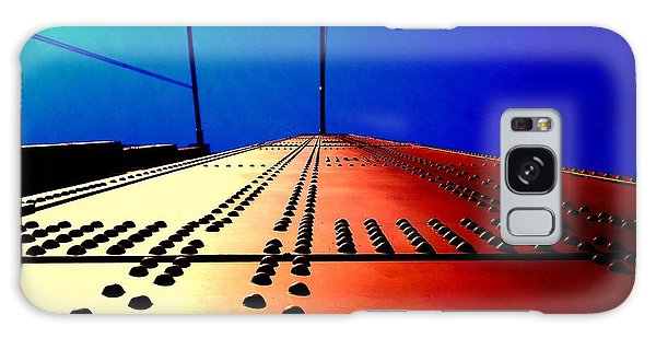Golden Gate Bridge In California Rivets And Cables Galaxy Case by Michael Hoard