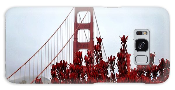 Golden Gate Bridge Red Flowers Galaxy Case