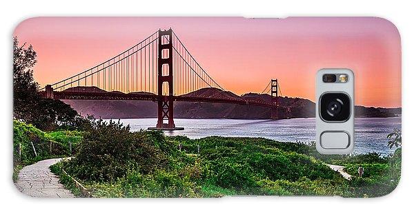 Golden Gate Bridge San Francisco California At Sunset Galaxy Case