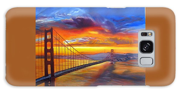 Golden Gate Bridge Sunset Galaxy Case
