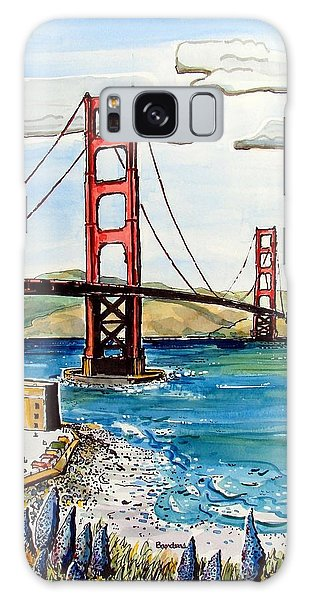 Golden Gate Bridge Galaxy Case by Terry Banderas