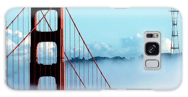 Golden Gate Bridge Tower Fog Antenna Galaxy Case by Jeff Lowe