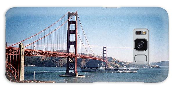 Golden Gate Bridge With Aircraft Carrier Galaxy Case