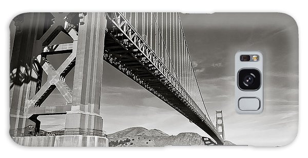 Golden Gate From The Water - Bw Galaxy Case by Darcy Michaelchuk