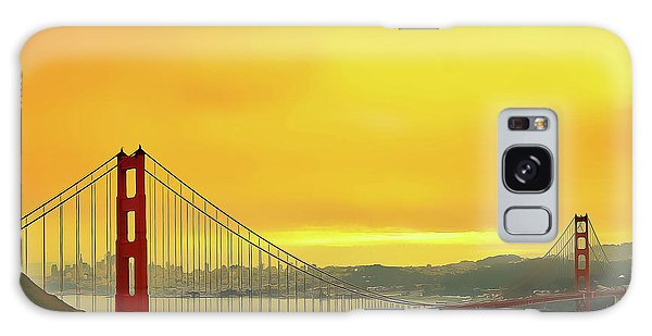 Galaxy Case featuring the painting Golden Gate by Harry Warrick