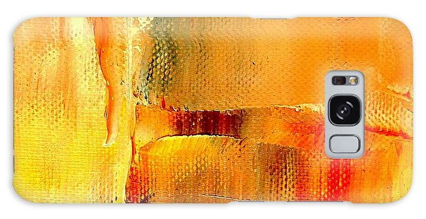 Golden Glow Abstract Square Galaxy Case