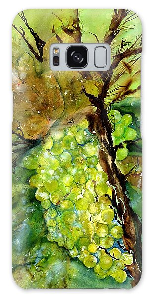 Golden Glowing Grapes  Galaxy Case