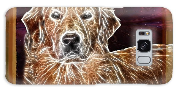 Golden Glowing Retriever Galaxy Case by EricaMaxine  Price