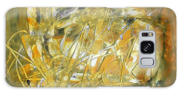 Golden Grass Galaxy Case
