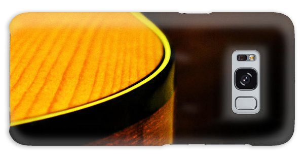Golden Guitar Curve Galaxy Case