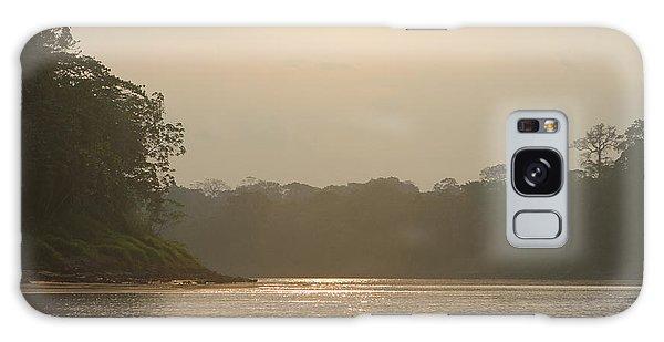 Golden Haze Covering The Amazon River Galaxy Case