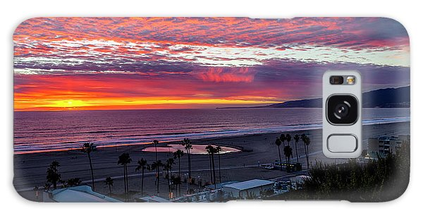 Golden Horizon At Sunset -  Panorama Galaxy Case