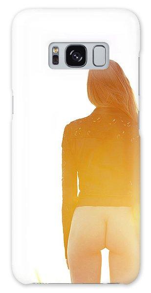 Golden Hour Girl Galaxy Case