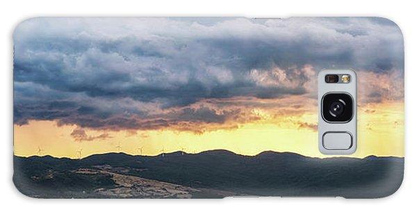 Golden Hour In Volterra Galaxy Case