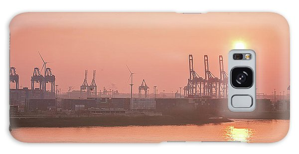Golden Hour On The Elbe Galaxy Case