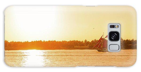Golden Hour Sailing Ship Galaxy Case