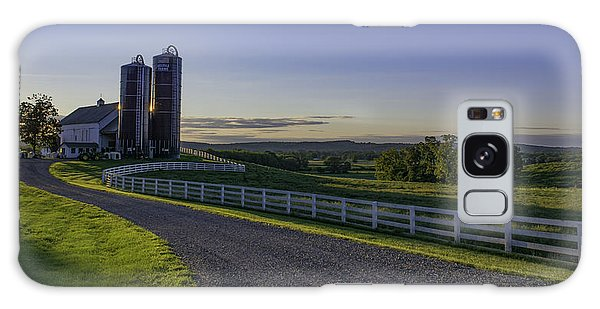 Golden Hour Silos Galaxy Case