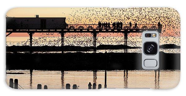 Golden Hour Starlings In Aberystwyth Galaxy Case