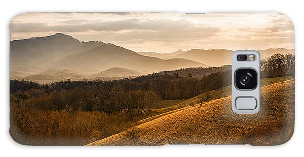 Grandfather Mountain Sunset - Moses Cone Blue Ridge Parkway Galaxy Case