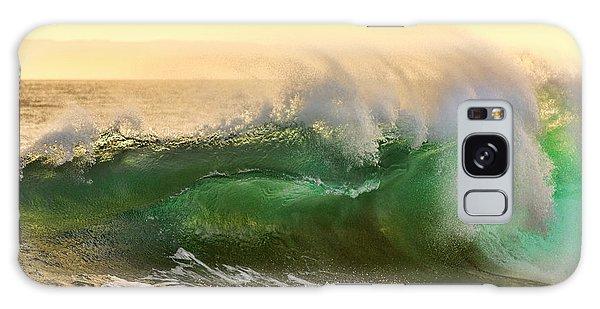 Golden Hour Waves Galaxy Case by Eddie Yerkish