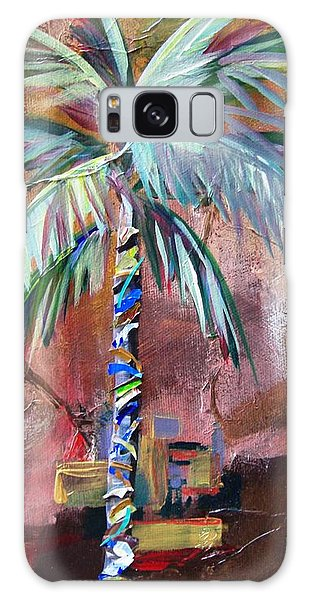 Golden Jasper Palm Galaxy Case