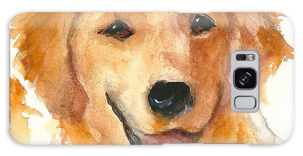 Golden Retriever Watercolor Painting By Kmcelwaine Galaxy Case
