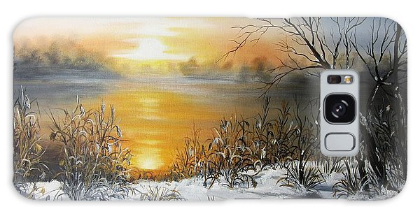 Golden Lake Sunrise  Galaxy Case