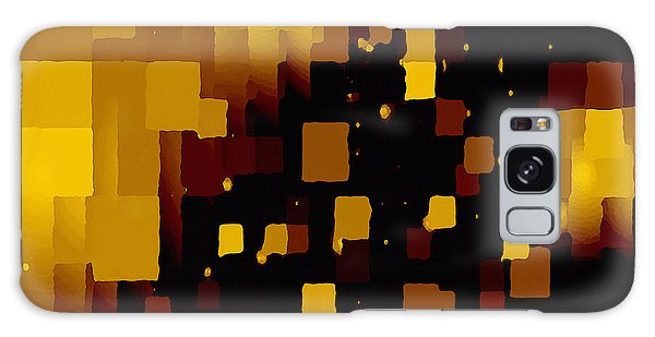 Galaxy Case featuring the digital art Golden Light And Dark  by Shelli Fitzpatrick
