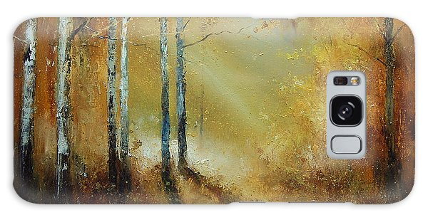 Golden Light In Autumn Woods Galaxy Case