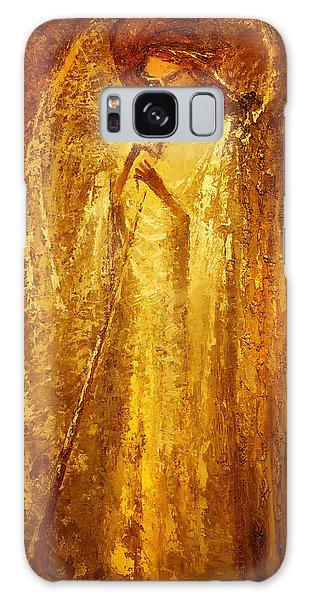 Golden Light Of Angel Galaxy Case by Valentina Kondrashova
